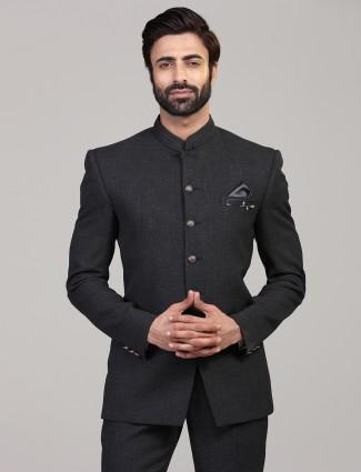 Elegent dark grey party wear jodhpuri blazer