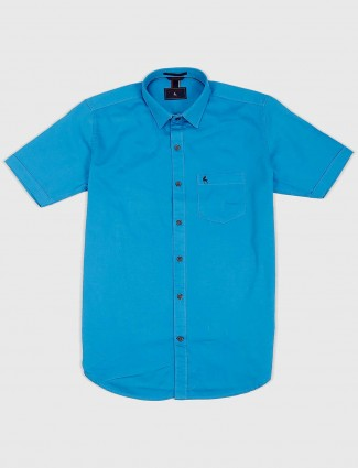 EQIQ aqua solid slim fit mens shirt