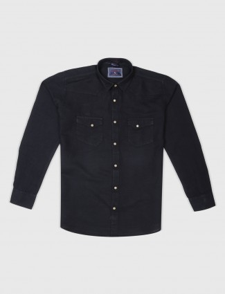 EQIQ black hue slim fit shirt