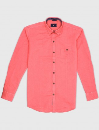 EQIQ bright pink color cotton shirt
