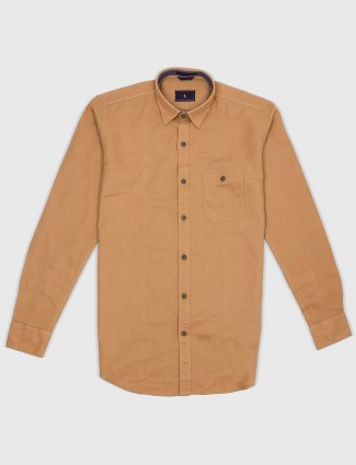 EQIQ cotton fabric khaki hue shirt