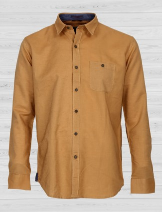 EQIQ mustard yellow color shirt