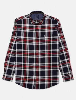 Eqiq navy checks shirt casual wear