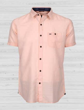EQIQ presented light peach shirt
