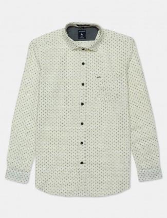 Eqiq printed yellow cotton shirt