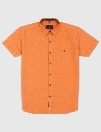 EQIQ simple orange color shirt