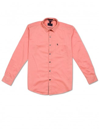 EQIQ simple peach hue shirt