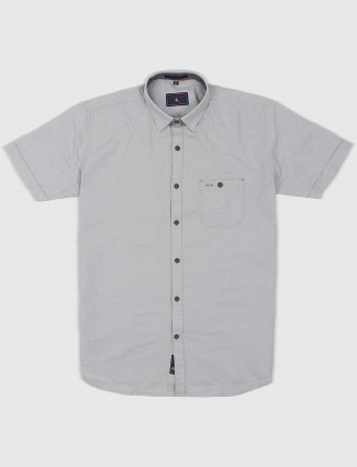 EQIQ slim fit grey hued shirt