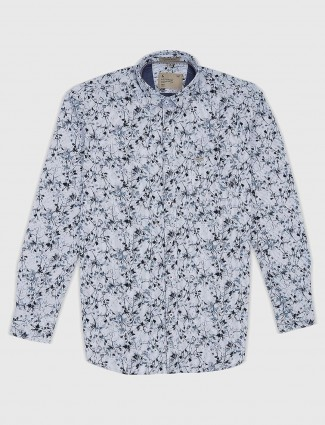 EQIQ white hued printed pattern shirt