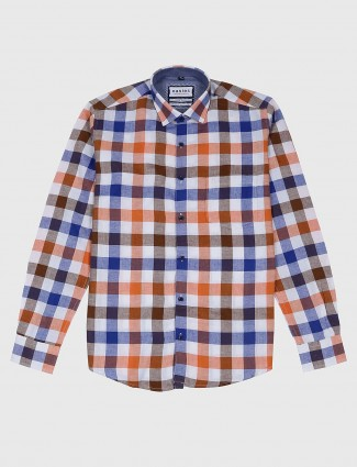 Esies orange and blue checks shirt
