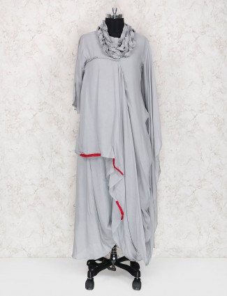 Exclusive grey hue cotton kurti