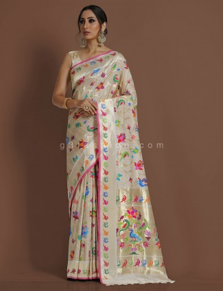 Exclusive peach minakari pure banarasi silk wedding saree