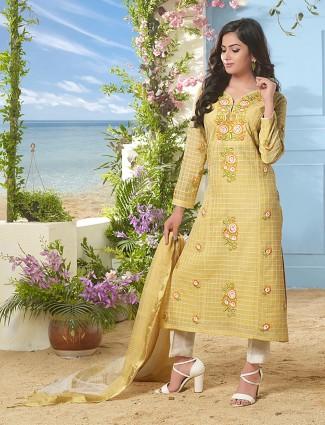 Exclusive yellow color punjabi salwar suit