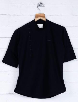 Festive function black cotton kurta