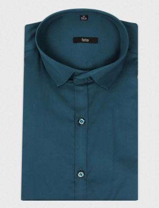 Fete rama green solid shirt