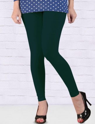 FFU bottle green color ankal length leggings