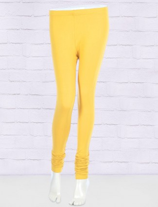 FFU bright yellow solid leggings