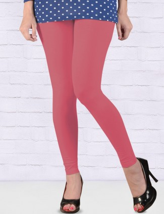 FFU coral pink comfortable ankal length leggings