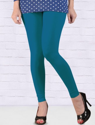 FFU cotton fabric blue hue ankal length leggings