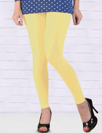 FFU lemon yellow colored ankal length leggings