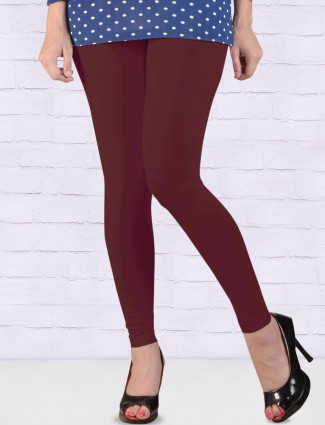 FFU presented maroon color ankal length leggings