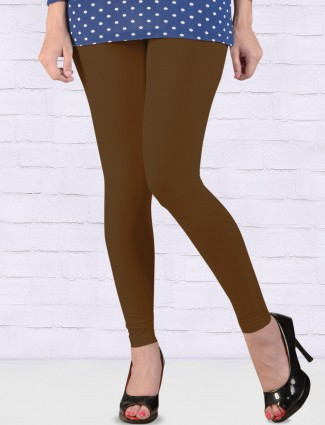 FFU presnted brown hue ankal length leggings
