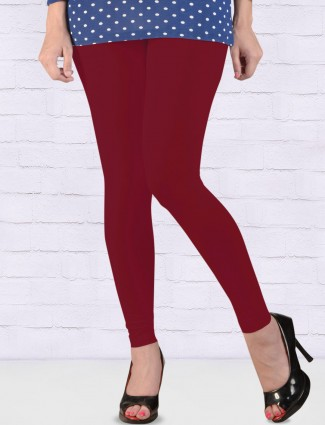 FFU red hue ankal length leggings