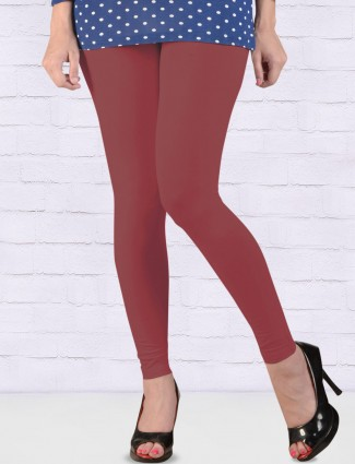 FFU rose pink hue solid ankal length leggings