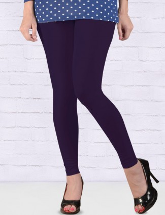 FFU simple purple ankal length leggings