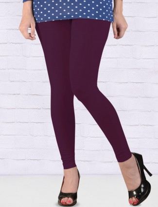 FFU skinny fit purple color ankal length leggings