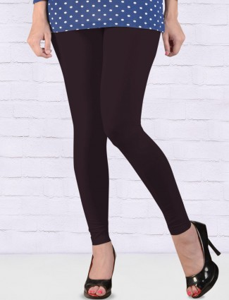 FFU solid brown hue ankal length leggings