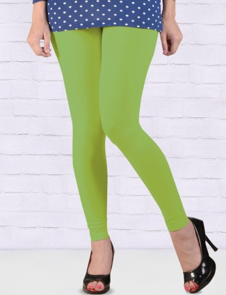 FFU solid parrot green ankal length leggings