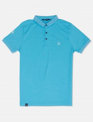 Freeze aqua solid casual t-shirt