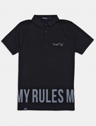 Freeze black printed t-shirt in cotton