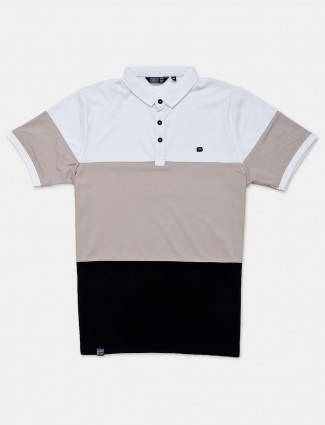 Freeze cotton beige solid polo t-shirt