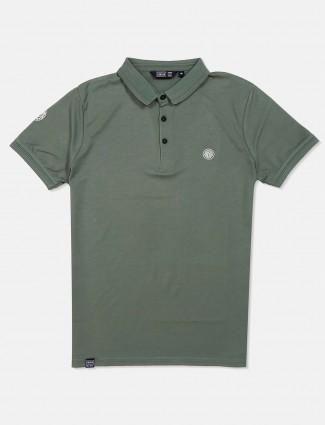 Freeze cotton green polo t-shirt