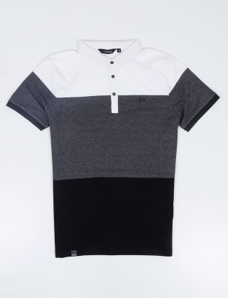 Freeze dark grey and white solid t-shirt