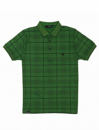 Freeze green checks pattern t-shirt