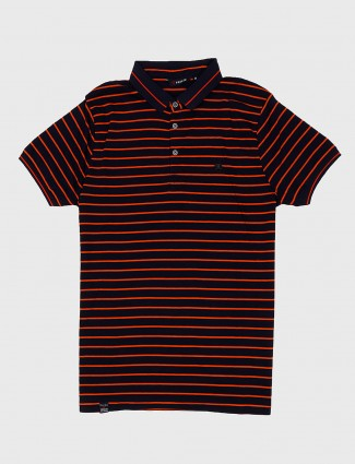 Freeze navy color stripe cotton t-shirt