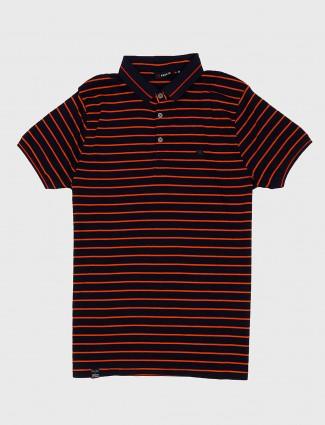 Freeze navy color stripe cotton t-shirt