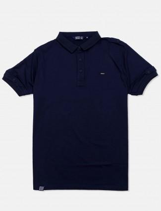 Freeze navy solid mens t-shirt