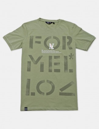 Freeze presented printed green t-shirt