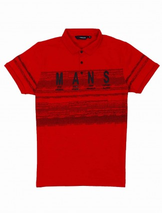 Freeze presented red printed t-shirt