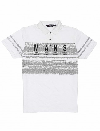 Freeze printed white color t-shirt