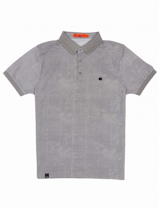 Freeze slim fit grey hue solid t-shirt