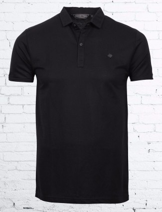 Freeze solid black cotton t-shirt