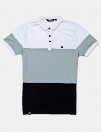 Freeze solid green half sleeves polo t-shirt