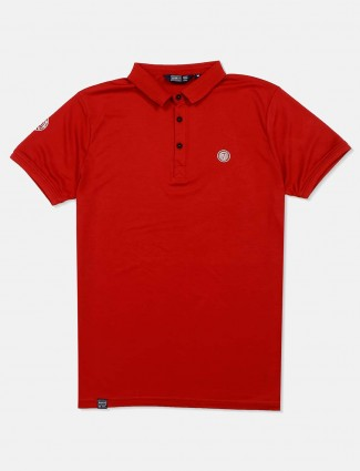 Freeze solid red half sleeves t-shirt