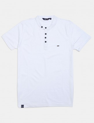 Freeze solid white casual wear t-shirt
