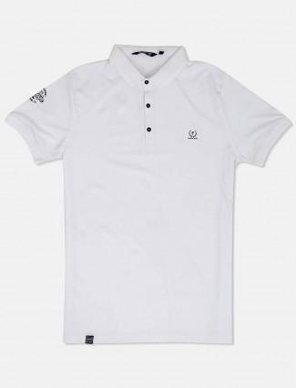 Freeze solid white cotton t-shirt